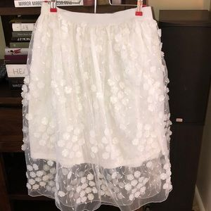 Gorgeous cream illusion skirt APPEARS NWOT